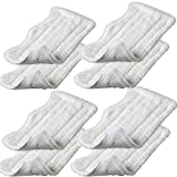 EcoMaid Accessories For 8pcs Replacement Microfiber Pads for Euro Pro Shark Steam Mop S3250 S3101 (set of 8)