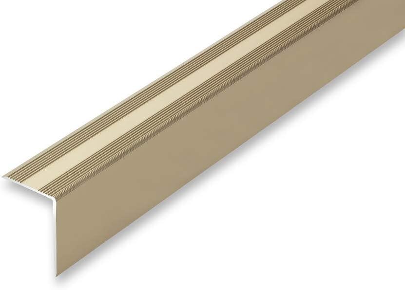 gebohrt 11,73/€//m , edelstahl-look Treppenwinkel 30 x 42 x 900 mm 6 Farben ungebohrt selbstklebend Kantenprofilwinkel ungebohrt 30 x 42 x 900 mm