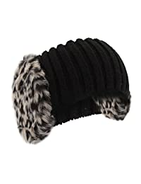 Universal Textiles Womens/Ladies Knitted Faux Fur Winter Headband With Earmuffs