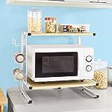 SoBuy? FRG092-N, Kitchen Appliances Storage Shelf Rack, Microwave Shelf Mini-shelf, 3 Side Bottle Holders by SoBuy