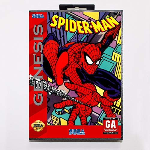 Amazing Spider-Man Vs. The Kingpin Game Cartridge 16 Bit Md Game Card with Retail Box for Sega Mega Drive for - Cartridge Spider Man Game