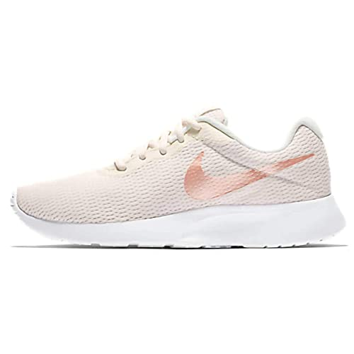 Nike Women's Tanjun Shoe Phantom/Crimson Tint/Light Bone/White Size 9.5 M US Best Breathable Mesh Running Shoes for Women