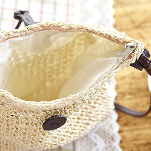 Simple De Sac Herbe Sac Sac Arrière Paille À Diagonale Water Sac Corde Papier Dos Plage Tissé Occasionnel Mode Petit Toys Sac De LF ft7nqz