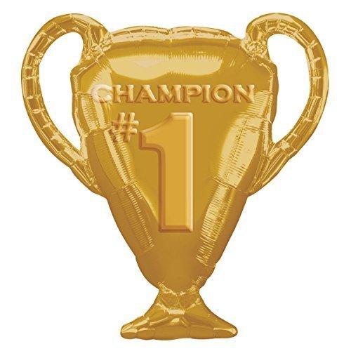 (Amscan International Gold Trophy Super Shape Foil Balloons 28