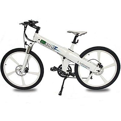 E-go White New Electric Bike Matt Electric Bicycle Mountain 500w Lithium Battery City Ebike