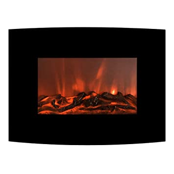 Small Wall Fireplace with Remote