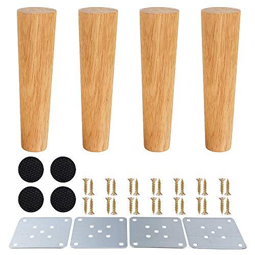 Patas de muebles de madera, patas de madera para armarios y mesas de TV, gabinete, sofa, cama, mesa de comedor, paquete de 4 unidades