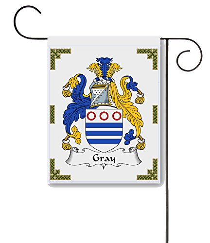 Carpe Diem Designs Gray Coat of Arms/Gray Family Crest 11 X 15 Garden Flag – Made in the U.S.A. - Gray Coat Arms