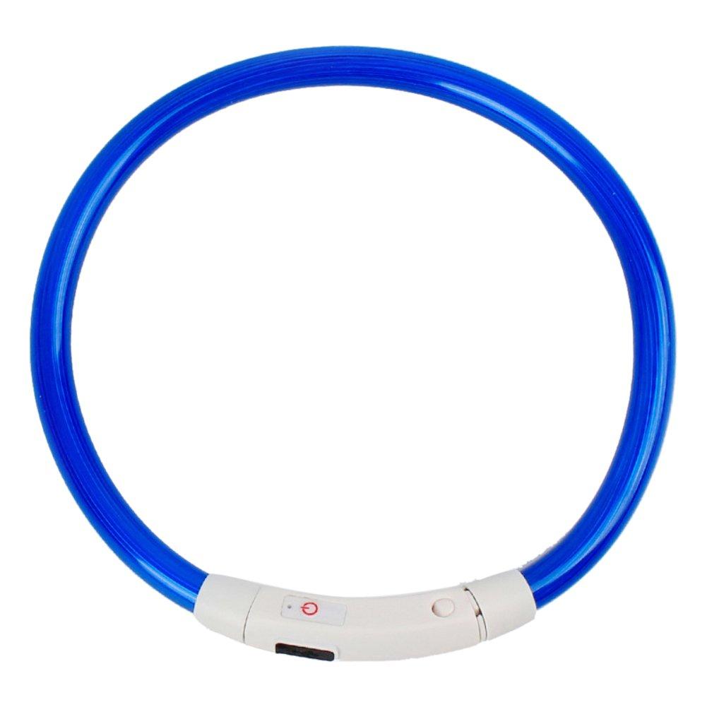 profusion Circle LED Collier de chien, USB rechargeable pour animal domestique étanche Collier de sécurité de nuit clignotant lumineux Collier de chiot de chien