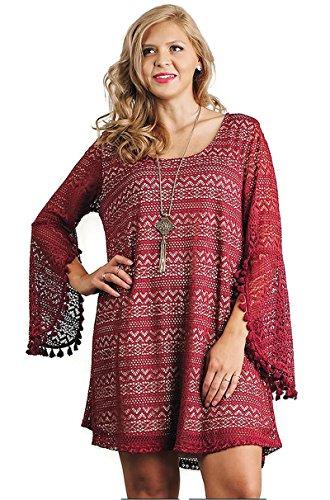 Umgee Boho Dress Split Sleeves product image