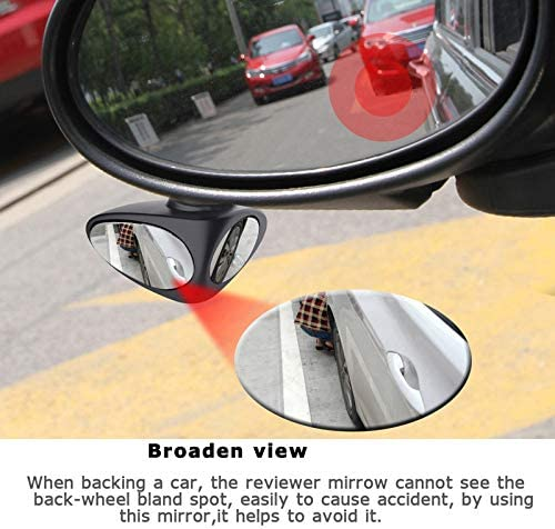 Blind Spot Mirror,360 Rotation Adjustable Rear View Mirror View Front Wheel Mirror 2 in 1 Car Rearview Mirror