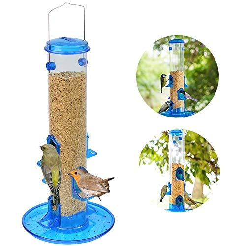LJXiioo Bird Feeder – Classic Tube Hanging Feeders - Jumbo Seed Bird Feeder ()