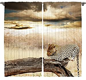Amazon Com Animal Print Curtains Room Decor By Ambesonne