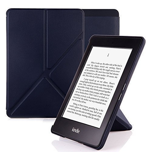 Nouske Amazon All-New Kindle Paperwhite Origami Cover Case Stand Sleeve Protective Skin Auto Sleep, Navy ()