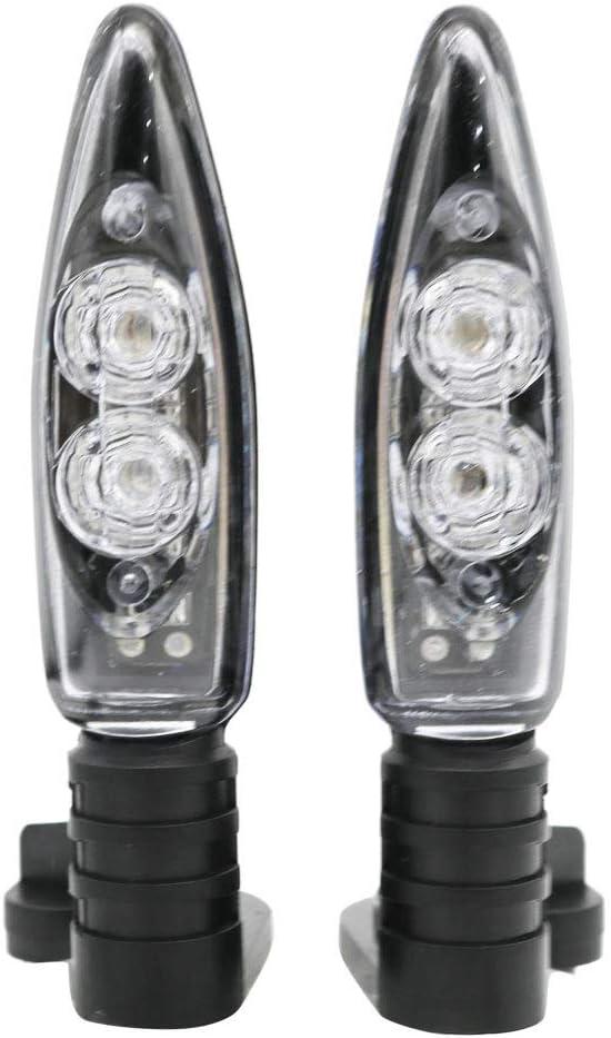 Frente de la Motocicleta y Trasera Luces Intermitentes de Giro en Forma for BMW R 1200 GS R1200GS R 1200 GS G310R G310GS 2006-2013 NO LOGO Xjb-MOZX Color : Front and Rear Light