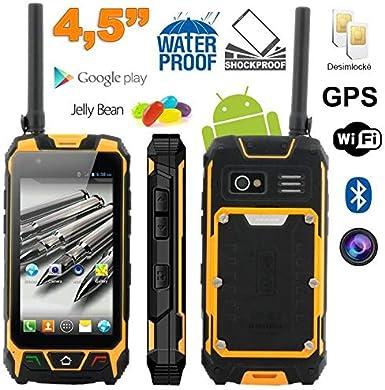 Smartphone antigolpes Android 4.5 Pulgadas Impermeable Walkie ...
