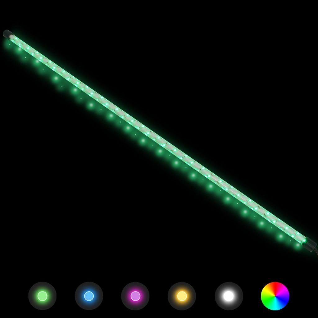 vidaXL LED Gabionen Beleuchtung 23,5W 120cm RGB Farbwechsel Zaunbeleuchtung