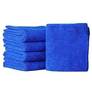 Floralby 5Pcs Blue Soft Absorbent Wash Towel Car Auto Care Microfiber Cleaning Cloth