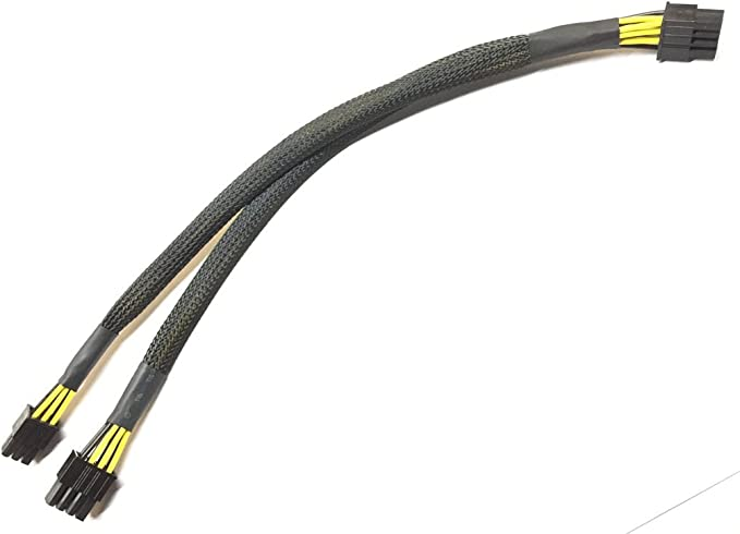 8pin to 6pin Power Adapter Cable for DELL R730 and NVIDIA Quadro GPU 35cm