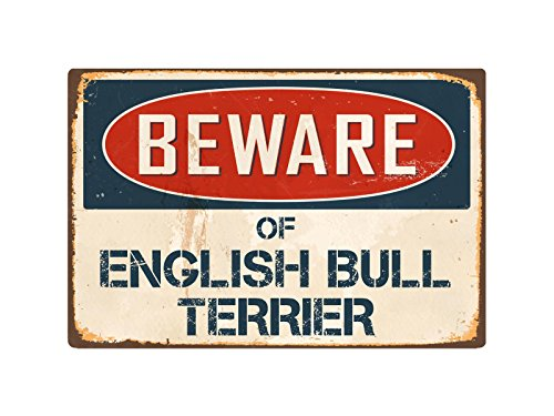 English Terrier Bull - StickerPirate Beware of English Bull Terrier 8