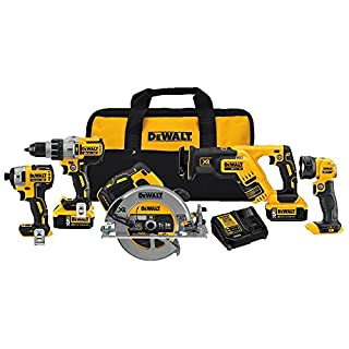 Dewalt 5 tool combo kit 20v hammer drill DoityourselfStore