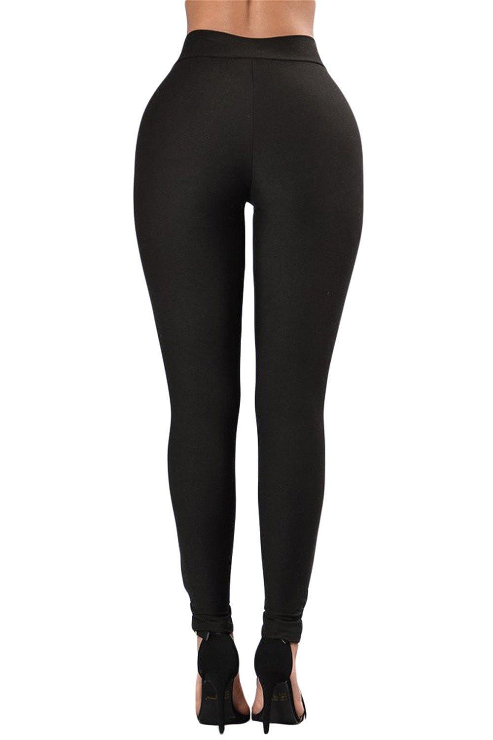 4942b9286216e2 Mushuji Women Black Grommet Lace Up Crisscross Front High Waist Stretch  Sports Leggings Slim Fit Yoga Pants Running Leggings at Amazon Women's  Clothing ...
