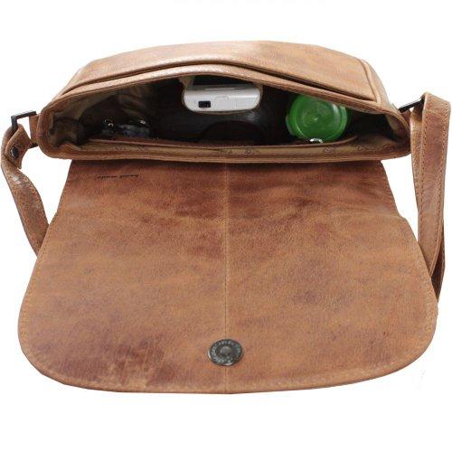 Greenland Light Handtasche veredeltes Leder 22 cm