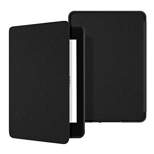 Ayotu Water-Safe Leather Case for Kindle Paperwhite 2018 - Durable Smart Leather Cover with Auto Wake/Sleep fits Amazon the latest Kindle Paperwhite (10th Generation-2018),K10 Black