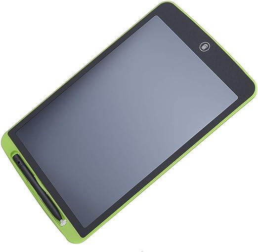 LCDライティングボード、150mAh LEDバックライトなしABSマテリアルライティングタブレット、男の子/女の子用(green)