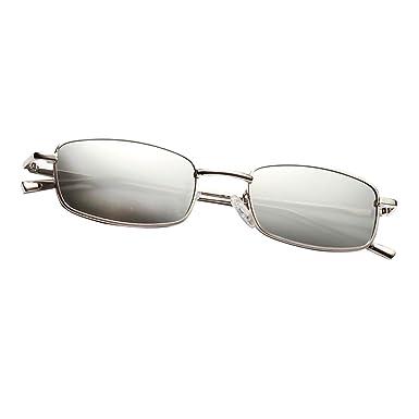 8f0a5d2ce92fac Sharplace Lunettes de Soleil Rétro Vintage Rectangle Rétro Cadre Classique  Unisexe Mode - Blanc, 141