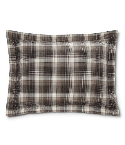 Ralph Lauren Hoxton Collection Jackson Plaid Standard Sham, Cream/Grey - Ralph Lauren Bedding Collections