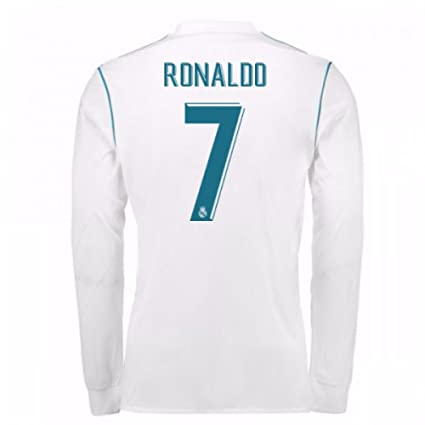 promo code 38c84 227da Amazon.com : 2017-18 Real Madrid Long Sleeve Home Football ...