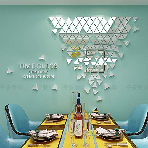 Mirror Mosaic Tiles Mosaic 3D Wall Stickers Living Room Restaurant Porch Decoration Creative Geometric Mirror Wall Stickers Hocus Pocus