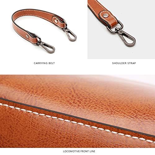 en de rétro à Sac 11 Mini 18cm à marron couleur Femme sac Gris Sac 20 main bandoulière cuir véritable unie Xmyl qBO1Iwxx