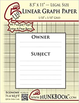 buy linear graph paper 1 10 grid ucl0l 110 pages legal size