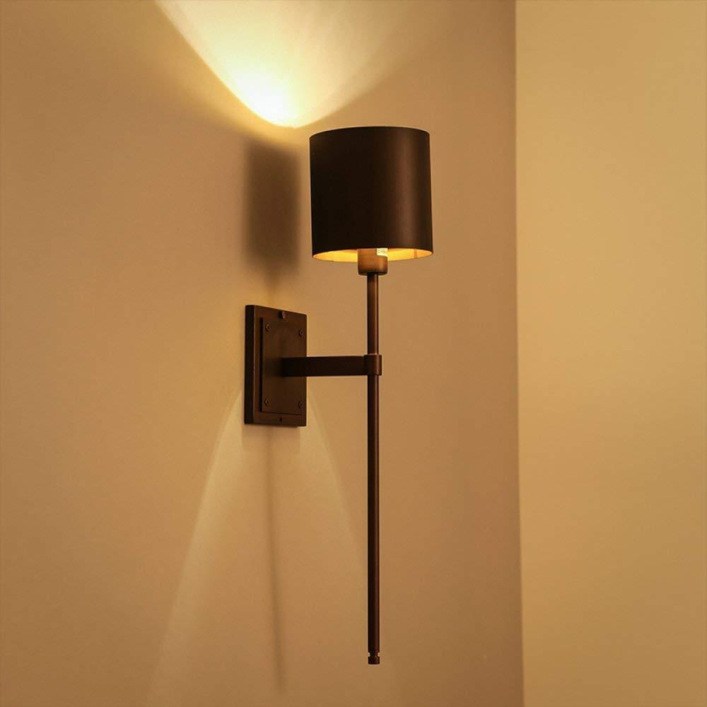 BXJ Ledウォールランプレトロベッドサイド寝室の廊下のリビングルームデンオフィスホテルのバルコニーバーアメリカの産業錬鉄シングルヘッドウォールライト3ワット B07R6CSBYF