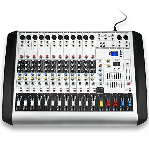 Professional MX-12 USB Portable Mixing Console 12 Channels 16 DSP DJ Audio Sound Mixer Channel Audio Mixing Console