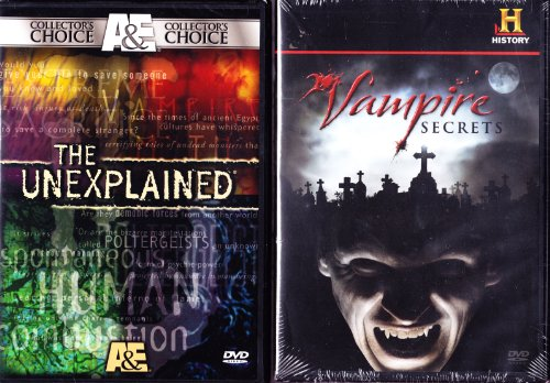The Unexplained The Vampire Myth , The History Channel Vampire Secrets : 3 Disc Set : 300 Minutes -