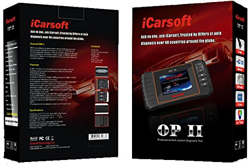 iCarsoft OP II for Opel NEW VERSION professional diagnostic tool scanner - PLUS FREE ANTI-SLIP PAD ($10 Value) by iCarsoft (Image #1)
