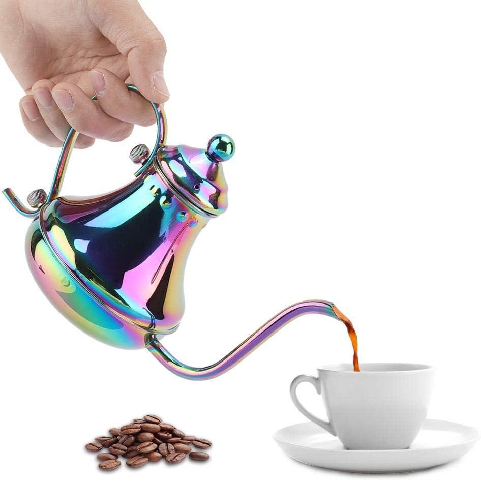 Cafetera Manual Cafetera de Goteo Cafetera Manual de Acero Inoxidable Cafetera de Color M/ágico