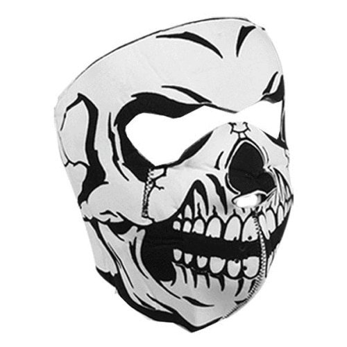 Zan Headgear WNFM002 Neoprene Full Face Mask, Glow In The Dark Skull