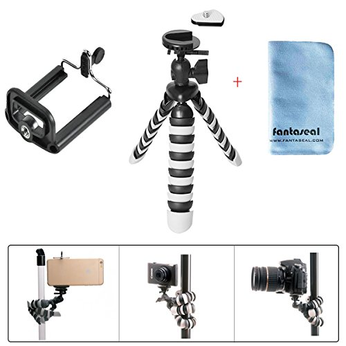 Smartphone Tripod Flexible Portable Tripod Mini Gorillapod Outdoor Table Desk Travel Tripod Stand for iPhone X/8Plus/7/7Plus/6/6s/6 Plus/6s Plus/Samsung S 9/S8/S7/Note 8/Note7/etc Phone +Camera Tripod Fence Shooting Bag