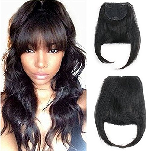 Luxwig Brazilian Human Hair Clip-in Hair Bang Fringe Short S