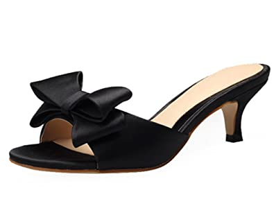 Dayiss Elegant Damen Schleife Sommerschuhe High Heels