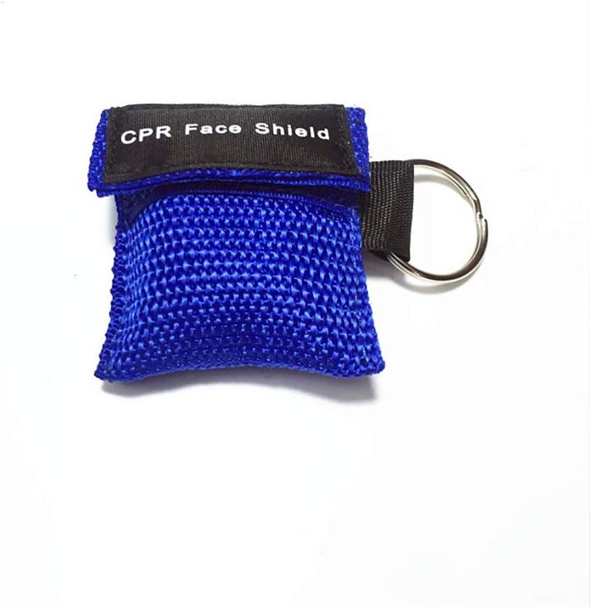 HEXIN RCP máscara Llavero Anillo de Emergencia Kit de Rescate Escudos de una Sola vía Barrera respiratoria de válvulas Primeros Auxilios