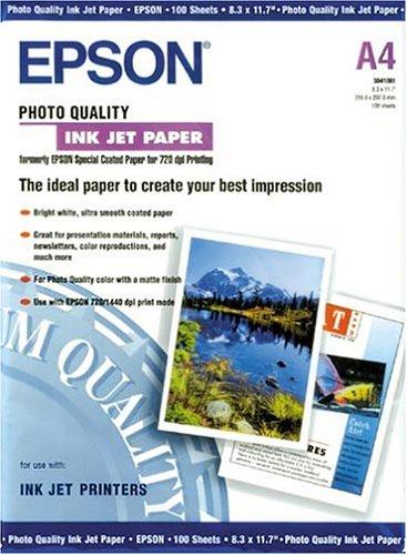 Epson C13S041061 Matte Photopapier Inkjet 104g/m2 A4 100 Blatt Pack