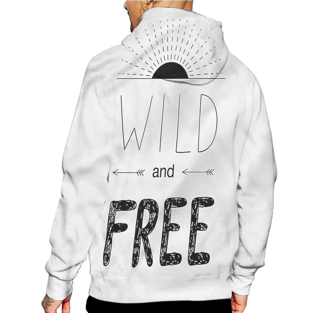 Unisex 3D Novelty Hoodies Adventure,Mountains Birds Sun,Sweatshirts for Women Plus Size