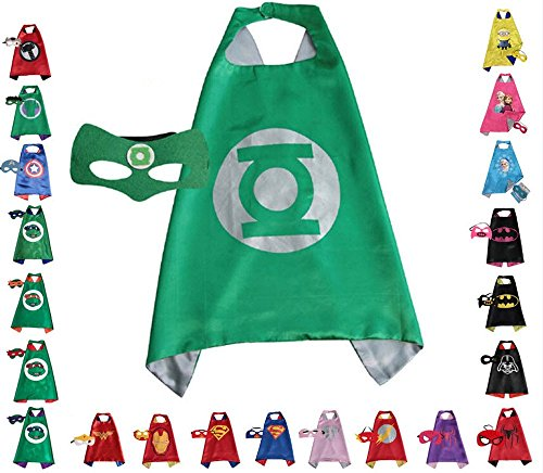 Ideas Superhero Costumes Up Made (Super hero Cape and Mask, Children, Boys, Girls Dress Up)