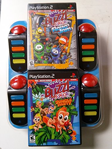 Buzz: Buzz! Junior Jungle Party and BUZZ Jr.: Robo Jam Bundle - Playstation 2