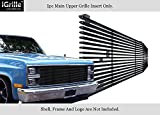 Stainless Steel 304 Black Billet Grille Grill Custome Fits 1981-1988 Chevy C/K Pickup/Blazer